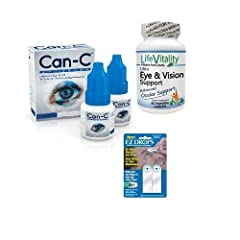 Each bundle contains: 2 vials of Can-C Eye Drops, 1 Bottle of Ultra Eye & Vision Support, and a 2-pack of EZ Drops reflective strips. A powerhouse of nutritional eye health support. Designed to moisturize the eyes and aid in clear vision. Ideal for t...