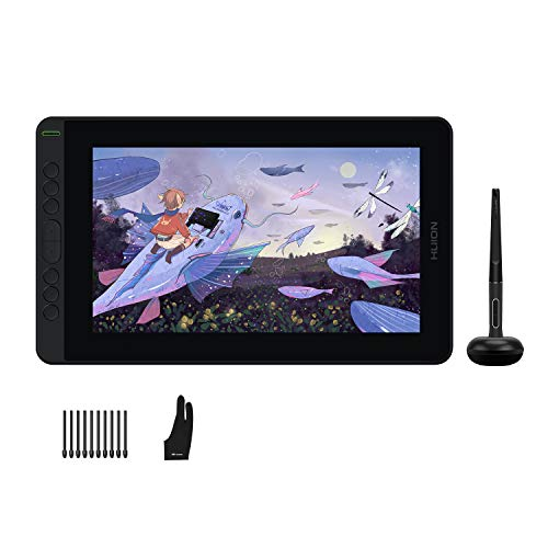 2021 HUION Kamvas 12 Graphic Tablet with Screen, Full Laminated AG Protective Screen, PW517 with Tilt Function,Graphic Drawing Monitor Ideal for Work from Home & Remote Learning, Black