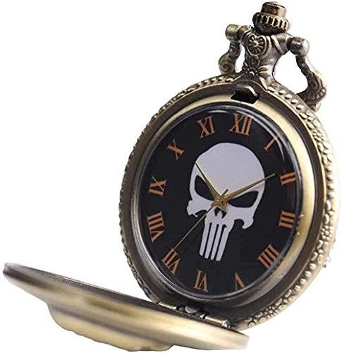 BEISUOSIBYW Co.,Ltd Collar Hombre Reloj de Bolsillo Mujeres Niños Niños PAL Collares Cabeza de telaraña Reloj de Bolsillo Fresco Colgante Fresco con Cadena