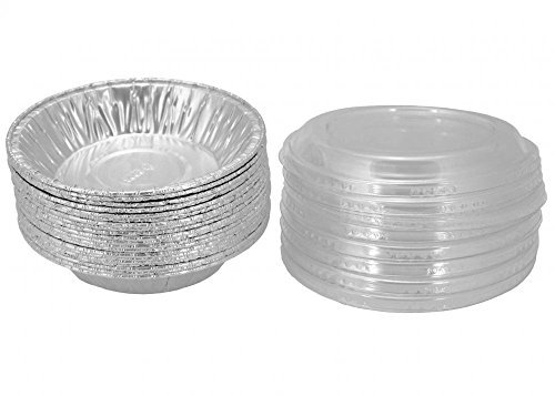 "Aluminum Foil 3 7/8"" For Mini Pie/Tart Pans Pot-Pie Tins With Lid 20 Sets."
