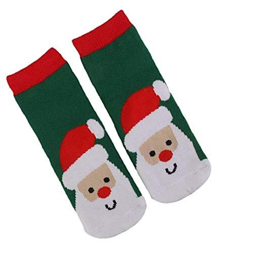 Lankater 1pair Kinder Kleinkind-säuglings Winter Socken Cotton Kids Christmas Theme Warm Socke Soxs Weihnachtsmann-dekoration-geschenk Für Jungen Und Mädchen 1-3 Alter