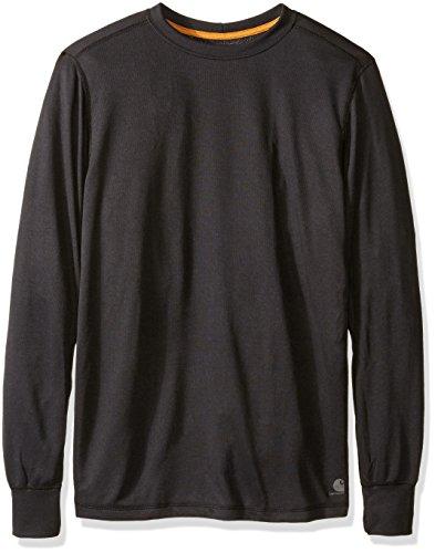 Carhartt Men's Big & Tall Base Force Extremes Cold Weather Crewneck Sweatshirt, Black, 3X-Large/Tall
