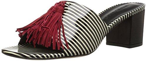 Bernardo Women's Bennet Slide Sandal, B/AmpW Patent/Red, 7.5 M US