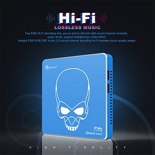 TV Box Beelink GT King Pro Hi-Fi Lossless Sound 4K TV Box with Dolby Audio DTS Listen,Amlogic S922X-H 4GB RAM 64GB ROM Android 9.0,Support 4K 60fps Resolution/BT 4.1/Dual-Band WiFi 2.4G+5.8G