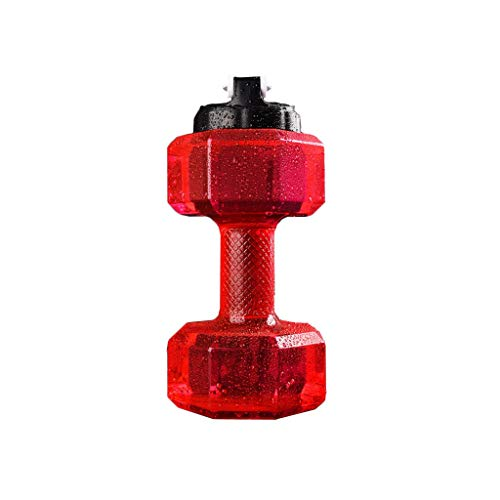 hkwshop Jarra de Agua Botella de Agua Deportiva de Gran Capacidad 2.2L Hombres y Mujeres Fitness Pesas Hervidor Hogar al Aire Libre (uno) Tetera para té Helado (Color : Red)