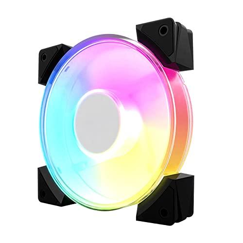 WDFDZSW Escritorio Computer Chassis Fan 12 cm RGB Color Cambiando el Ventilador de enfriamiento silencioso
