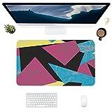 HUBNYO Color shapeLeather - Alfombrilla de escritorio de oficina para ratón, superficie lisa, fácil de limpiar, impermeable, protector de escritorio para la oficina/el hogar juegos