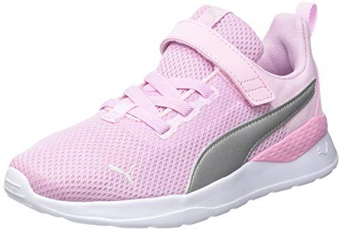 PUMA Unisex Bambino Anzarun Lite AC PS Sneaker, Rosa (Rosa Lady Puma Argento), 34 EU