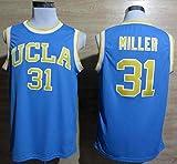 ATZUCL Men's #31 College Player Fans Basketball Gift Jersey - Blue XXL
