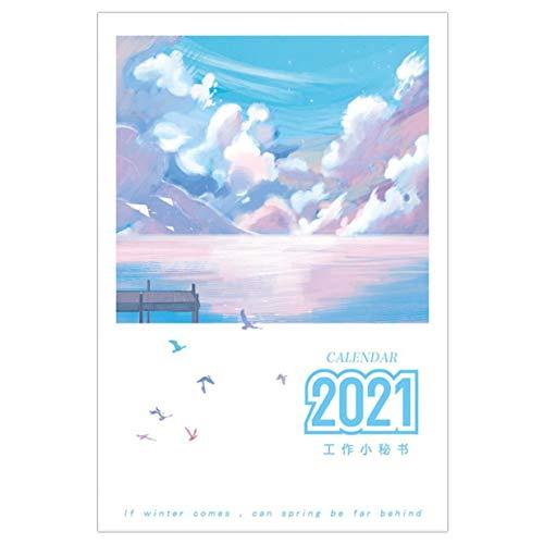 Timetided Calendario 2021 Calendario Bloc de Notas A5 Eficiencia Manual Calendario Bloc de Notas Plan de Mes Cuaderno de gesti¨n del Tiempo