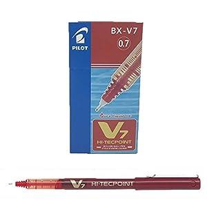 Pilot BX-V7 – Bolígrafo 0.7 mm, color rojo, caja de 12 unidades