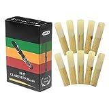 set di 10 ance per clarinetto in sib, in bambù tradizionale, forza 2.0/2.5/3.0, a