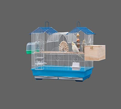 SZQ-Vogelkooien Birdcages met handgrepen, Canarische Chinchilla Guinea Pig huisdier kweekboxen Huisstijl Luxury Bird Cage 61 * 38 * 51cm Dierenkooi (Size : 61 * 38 * 51CM)