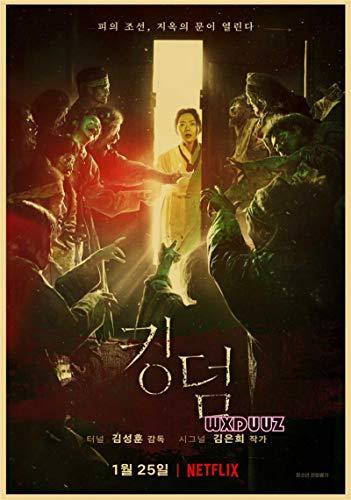 Traje Coreano Zombie TV Teatro Reino Estilo Retro decoración de la Pared Familiar Impresiones Cartel de Papel 50x70cm No Frame PQ-1682