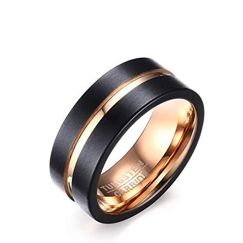 Stilvolle Einfachheit Ringe Kreative Wolfram Stahlring Hochwertige Legierung Ring für Männer Frauen Feine Verarbeitung/Wie Abgebildet/Nummer 7, xly, Wie gezeigt, Nummer 7