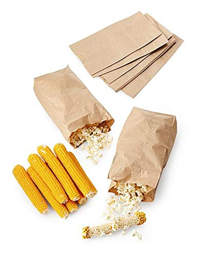 Best Price Popcorn On The Cob Kit! Includes 10 Cobs And 10 Kraft Paper Bags! Make Your Own Corn On T...