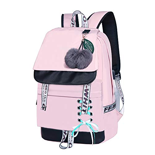 HZHENTIAN Cute Daypack Creative Cute Cartoon Draw Character Durable Water Resistant Classic Canvas Hiking Bag Hiking Bag Kids School Bag for Men Womens Hiking Daypack