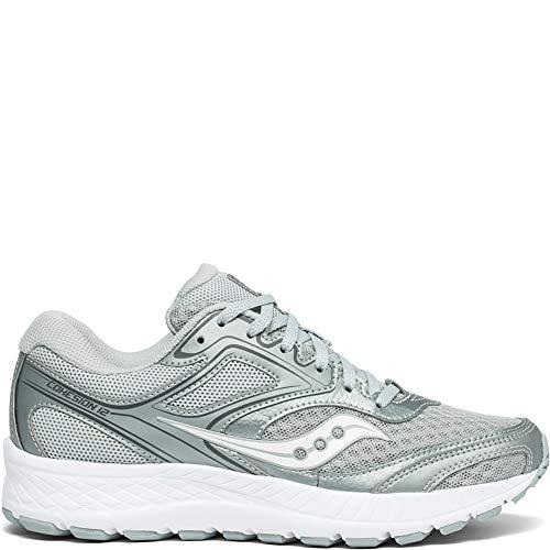 Price comparison product image Saucony Women's VERSAFOAM Cohesion 12 Road Running Shoe,  Grey / Silver,  5.5 M US