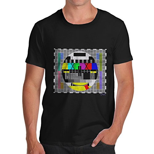 Men's TV Test Card Emoji Smiley Face T-shirt, Many Colours, S to XL