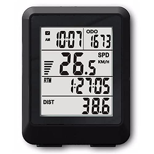 Lshbwsoif Cycle Computers Wireless 11 Functions 4 Lines Display Bike Computer Bicycle Odometer Power Meter Bicycle Odometer Speedometer