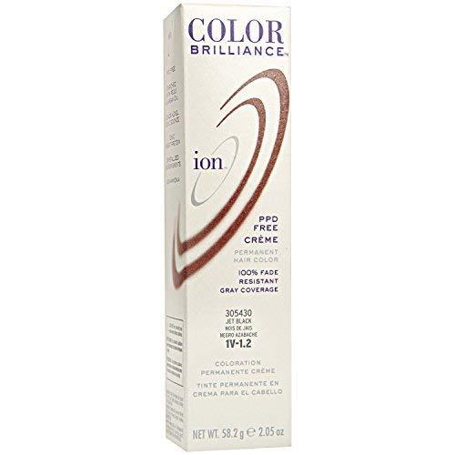 Ion 1V Jet Black Permanent Creme Hair Color 1V Jet Black