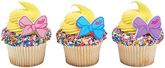 24 JoJo Siwa Cupcake Rings Toppers Party Supplies