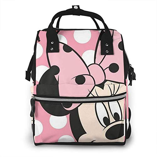 NHJYU Bolsa de pañales Mochila - Mi-n-n-ie Multifunction Waterproof Travel Mochila Maternity Baby Nappy Changing Bags