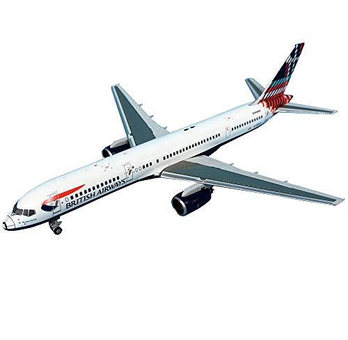 X-Toy Airbus Flugzeug Modell, 1/200 Maßstab Boeing757-200 British Airways Flugzeug-Legierung Modell, Erwachsene Geschenke, 4.6Inch X 3.7Inch