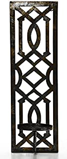 Hosley 16.5 Inch High Oil Bronze Finish Metal Wall Sconce. Great Wall Decor Ideal Gift for Wedding Party Spa Home Decor O5
