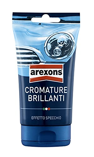 Arexons Cura Auto, Cromature Brillanti 150 Gr, Prodotto abrasivo specifico, Trattamento auto con azione lucidante, Elimina ruggine, Adatto a superfici cromate o metalliche