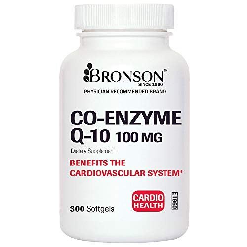 Premium CoQ10 100mg (CoEnzyme Q-10) - Non GMO - Antioxidant Support - Heart Health, Cellular Energy, Cardiovascular System Health Support - 300 Softgels
