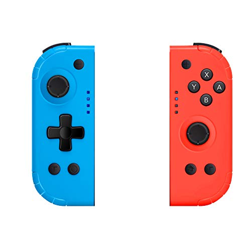 Joy Con Controller Replacement for Nintendo Switch, SHANGCAI Left Right Joy Con Pad Wireless Remote Controllers with Ergonomic Hand Grip Comfortable Handheld Gamepad (Wake Up Version)