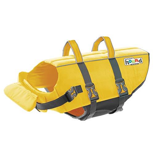 Outward Hound Granby Splash Yellow Dog Life Jacket, Large