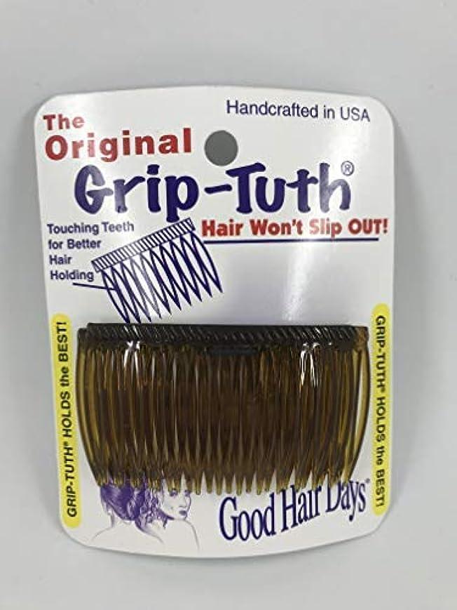 彼らのもの有名な習慣Good Hair Days Grip Tuth Combs 40405 Set of 2, Tortoise Shell Color 2 3/4