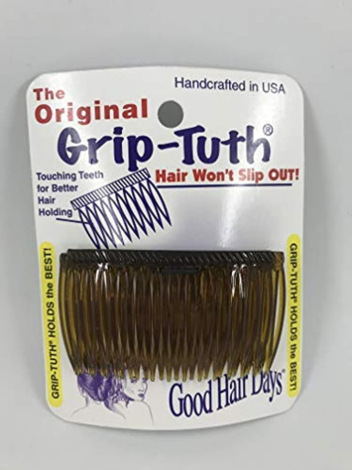 散文スペース失礼なGood Hair Days Grip Tuth Combs 40405 Set of 2, Tortoise Shell Color 2 3/4