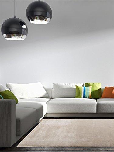Benuta Teppich Velvet, Kunstfaser, Beige, 80 x 150.0 x 2 cm