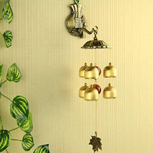 Tangyuan windspiele für den garten windspiele für den garten windspiele für den garten Dekorative Kupferglocken, Kupfertürwindspiele, Diebstahlsicherungen, dekorative Geschenke, Geschenke-020-6 Glocke