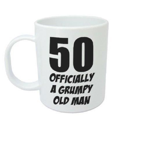 50 Official A Grumpy Old Man - Taza de regalo de 50 cumpleaños