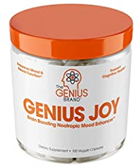 LIFE HACK NOOTROPIC SEROTONIN BOOSTER - Formulated with SAM-e, rhodiola, ginseng and 11 more focus boosting vitamins and minerals for mood support and anxiety relief, Genius Joy was meant to a be a cheat code for finding yourself. FOCUS, ENERGY, WELL...