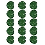 Holibanna 15 Piezas Hojas de Loto Artificiales de Espuma Flotante Hojas de Loto Lirio Almohadillas de Agua Hojas de Loto para Estanque Acuario Pecera Decoración de Patio Aire Libre