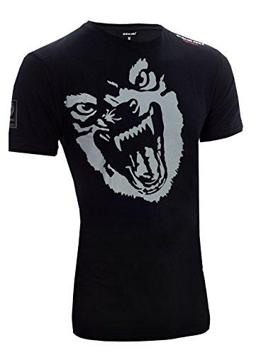 OKAMI Fightgear Herren Shirt Beast T, schwarz/Grau, M