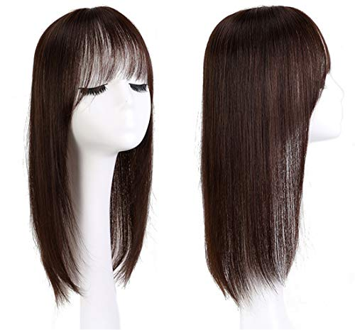 Véritables cheveux humains pour femme avec frange