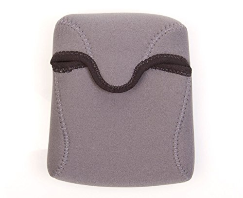 OP/TECH USA Bino Roof Soft Pouch - Padded Binocular Case, Small (Steel)