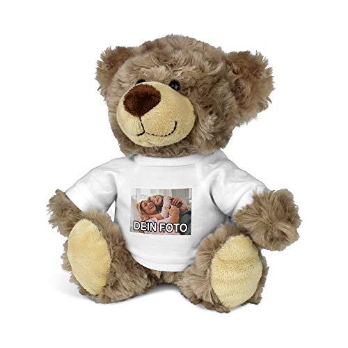 PhotoFancy® – Kuscheltier mit Foto Bedrucken – Kuscheltier (Teddy) mit eigenem Motiv selbst gestalten