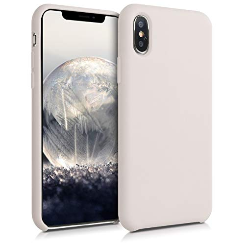 kwmobile Hülle kompatibel mit Apple iPhone XS - Handyhülle gummiert - Handy Hülle in Beige