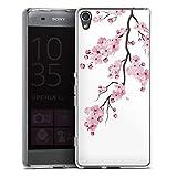DeinDesign Coque en Silicone Compatible avec Sony Xperia XA Etui Silicone Coque Souple Fleurs de...