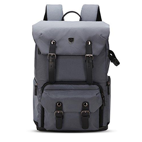BAGSMART Professioneller SLR / DSLR Kamera-Rucksack mit Laptopfach, Stativhalterung, Regenschutzhülle,Grau