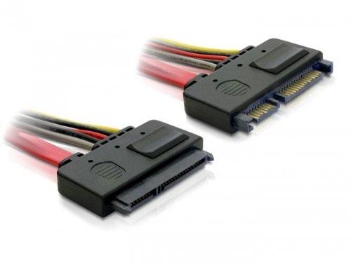 DeLock Verlängerungskabel SATA 6 GB/S 22 Pin Stecker > SATA 22 Pin Buchse (5 V + 12 V) 50 cm