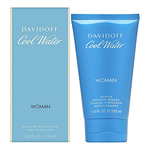 DAVIDOFF Cool Water Woman Gentle Shower Breeze, Duschgel mit blumig-frischem Duft für Frauen, 150 ml