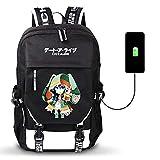 YZJYB Date A Live Hermit Animato Zaino Casuale Daypack Sacchetto di Scuola dello di Viaggio Multicolore Unisex Laptop Portatile Backpack per Universitã Viaggio Lavoro Stile Casual con USB